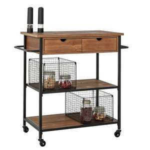 Home Metal and Wood Kitchen Trolley - £66.60 (Free click & collect) @ Argos