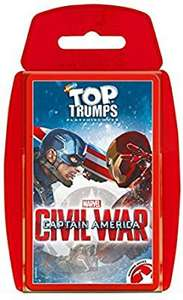 Top trumps Captain America Civil war card game £2.88 +£4.49 p&p non prime @ booghe shop/fulfilled by Amazon
