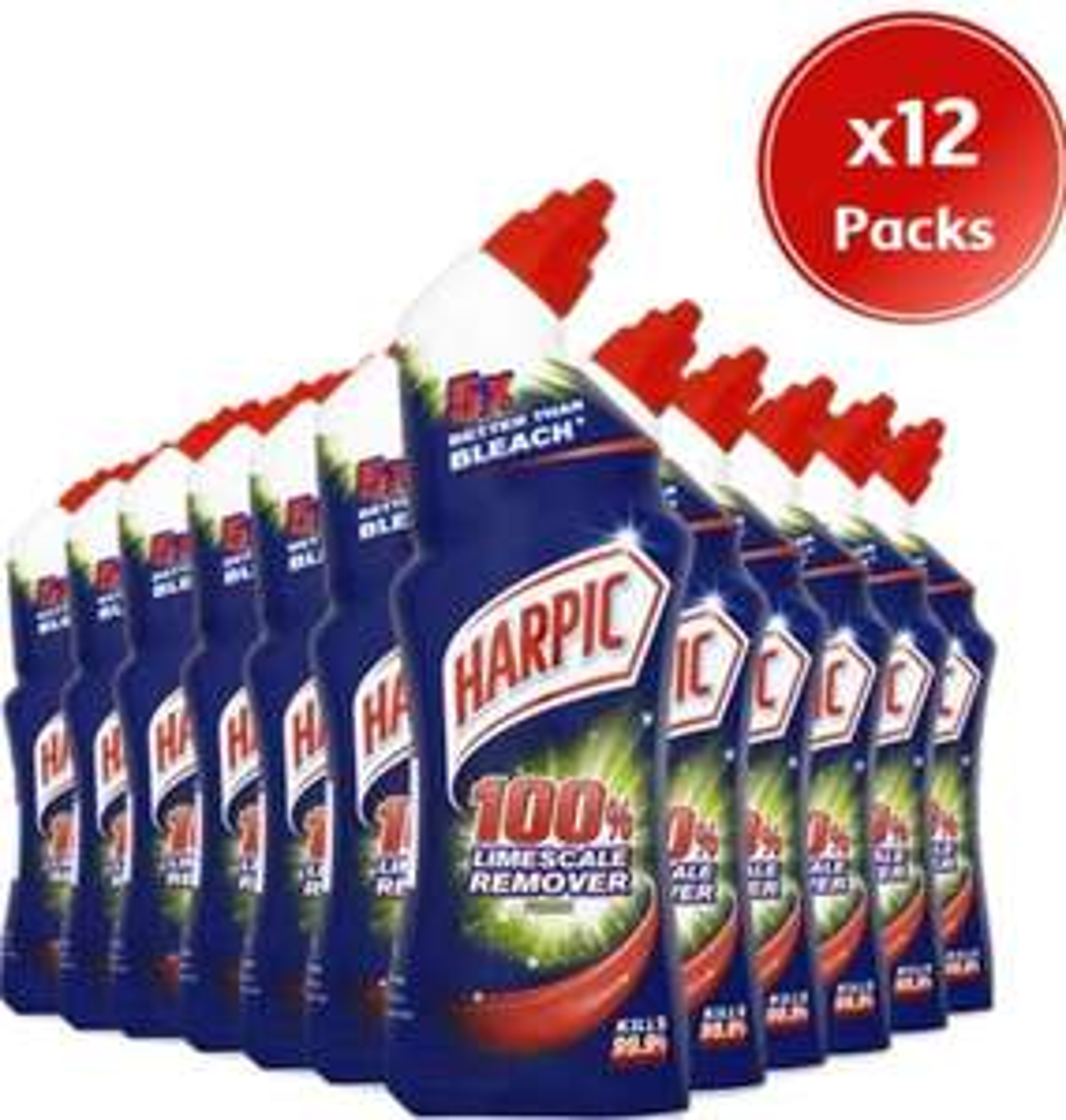 12 Bottles of Harpic Limescale Remover 750ml - £12 Prime / £16.49 non Prime @ Amazon