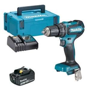 Makita DHP485RJX 18v LXT Brushless Combi Drill with 1 x 3Ah Battery, Charger and Case - £143.99 at ITS