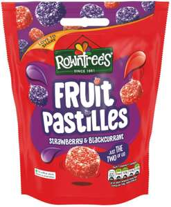 Rowntrees fruit pastilles strawberry & blackcurrant sharing pouch 150g pack of 10 - £9 @ Amazon prime (£4.49 p&p non prime) £7.65-£8.10 s&s