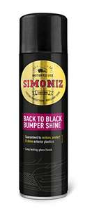 Simoniz Back to Black Bumper & Trim 500ml £2.50 (+£4.49 Non Prime) Delivered @ Amazon