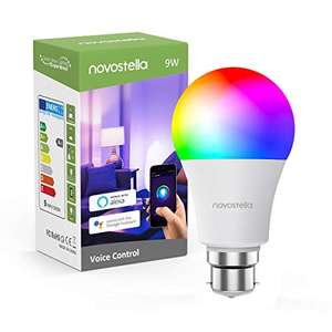 Novostella Wi-Fi Smart Bulb bayonet 7W/600lm 3-pack (or 9W 1 or 3-pack) for £27.99 using code delivered @ Ustellar-EU fulfilled by Amazon