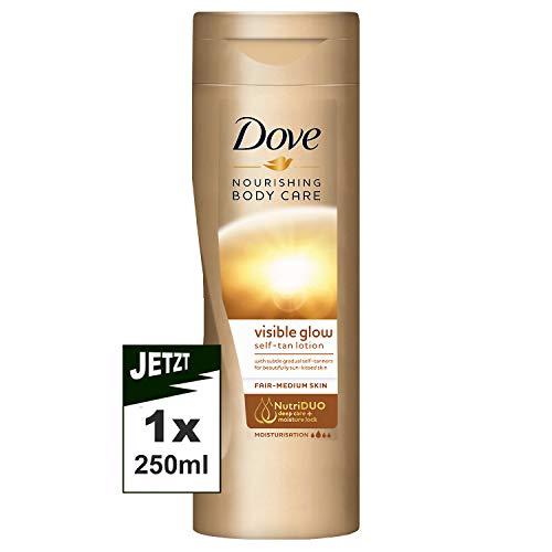 DOVE 250 ml Visible Glow Self Tan Lotion Fair to Medium Skin, 0.289898 kg - £1.50 Prime / +£4.49 non Prime @ Amazon