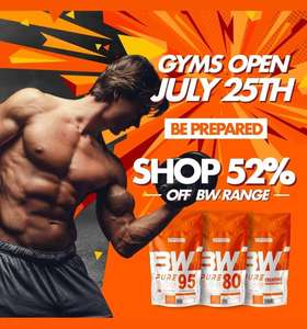 Bodybuilding Warehouse 52% off own brand supplements