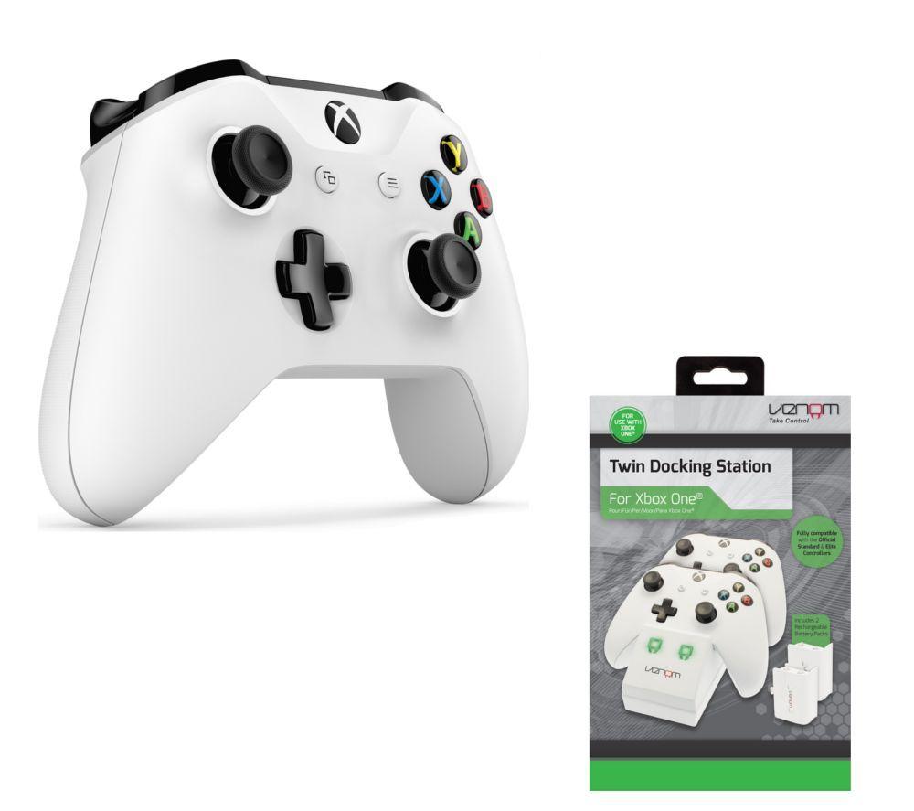 Xbox One Wireless Controller & Twin Docking Station Bundle save £9.99 - £54.99 @ Currys PC World