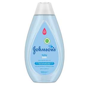 JOHNSON'S Baby Bath 500 ml - Gentle and Mild for Delicate Skin and Everyday Use - £1.50 Prime (£1.43 Subscribe & Save) (+£4.49 NP) @ Amazon