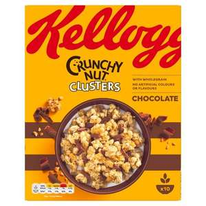 Kellogg's Crunchy Nut Clusters down from £3.50 to £2 @ CO-OP