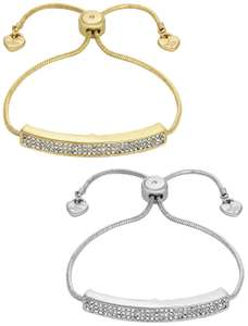 Lipsy Crystal Friendship Bracelets - Set of 2 £5.99 @ Argos - Free Click and Collect