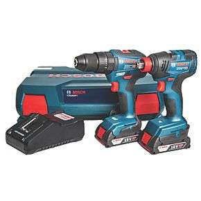 Bosch Gsb 18 V-55 18V 2.0AH Li-ion Coolpack Brushless Cordless Drill & GDX 18 V-200 Impact Driver Twin Pack - Screwfix - £199.99 delivered