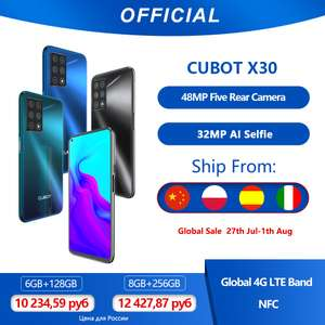 Cubot X30 Smartphone 48MP Five Camera 32MP Selfie 6GB+128GB £117.96 @ AliExpress Cubot Official Store £117.96 Global sale on July 27th