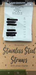 4 pack stainless steel straws for £1 instore @ One Below