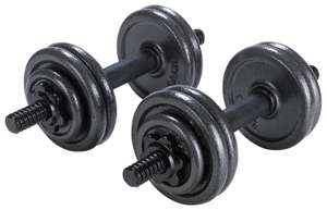 Opti Cast Iron Dumbbell Set - 15kg - £28 + free Click and Collect @ Argos