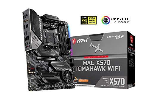 MSI MAG X570 Tomahawk Wifi Arsenal Motherboard AMD X570, 2x PCI-E 4.0 x16 RAID 0, 1, 10, Intel Wi-Fi 6 AX200, Bluetooth 5.0 £209.96 @ Amazon