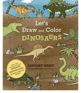 Let's Draw and Color Dinosaurs (A Let's Draw and Color Book) Free - Amazon Kindle