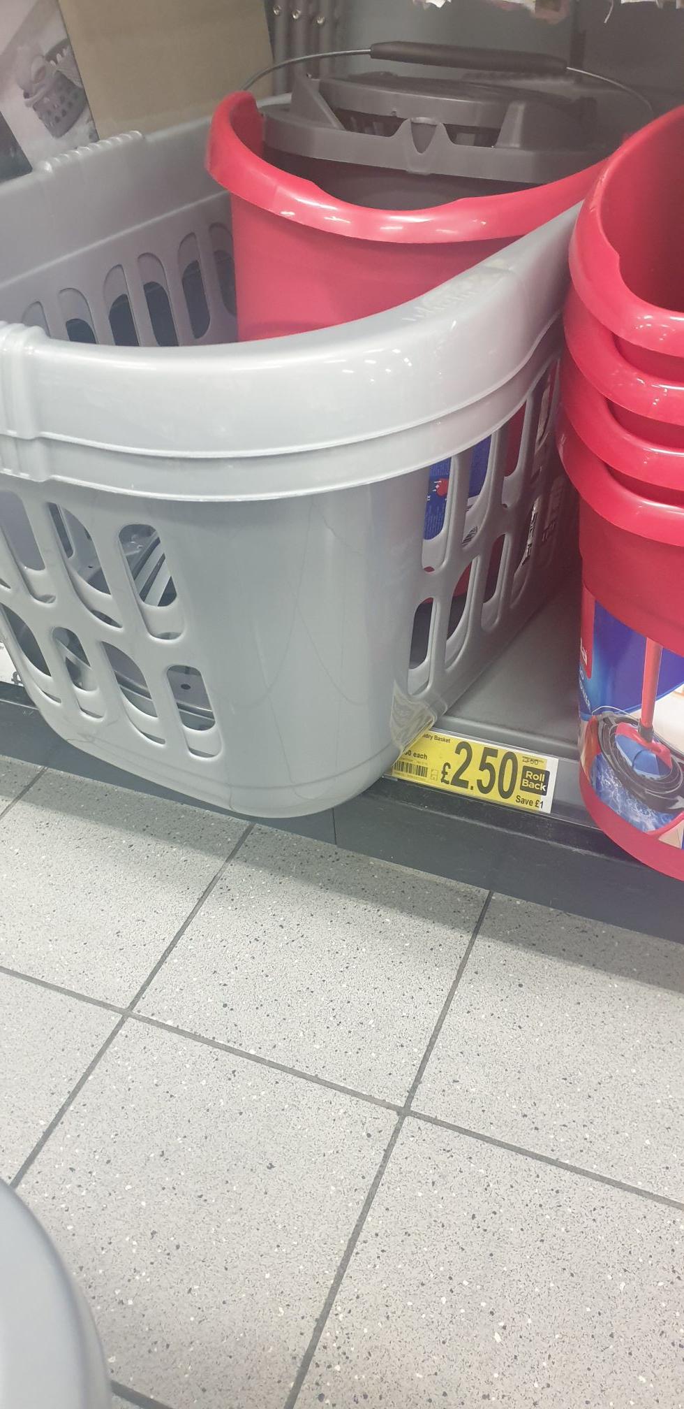 Laundry basket £2.50 instore in Asda Batley