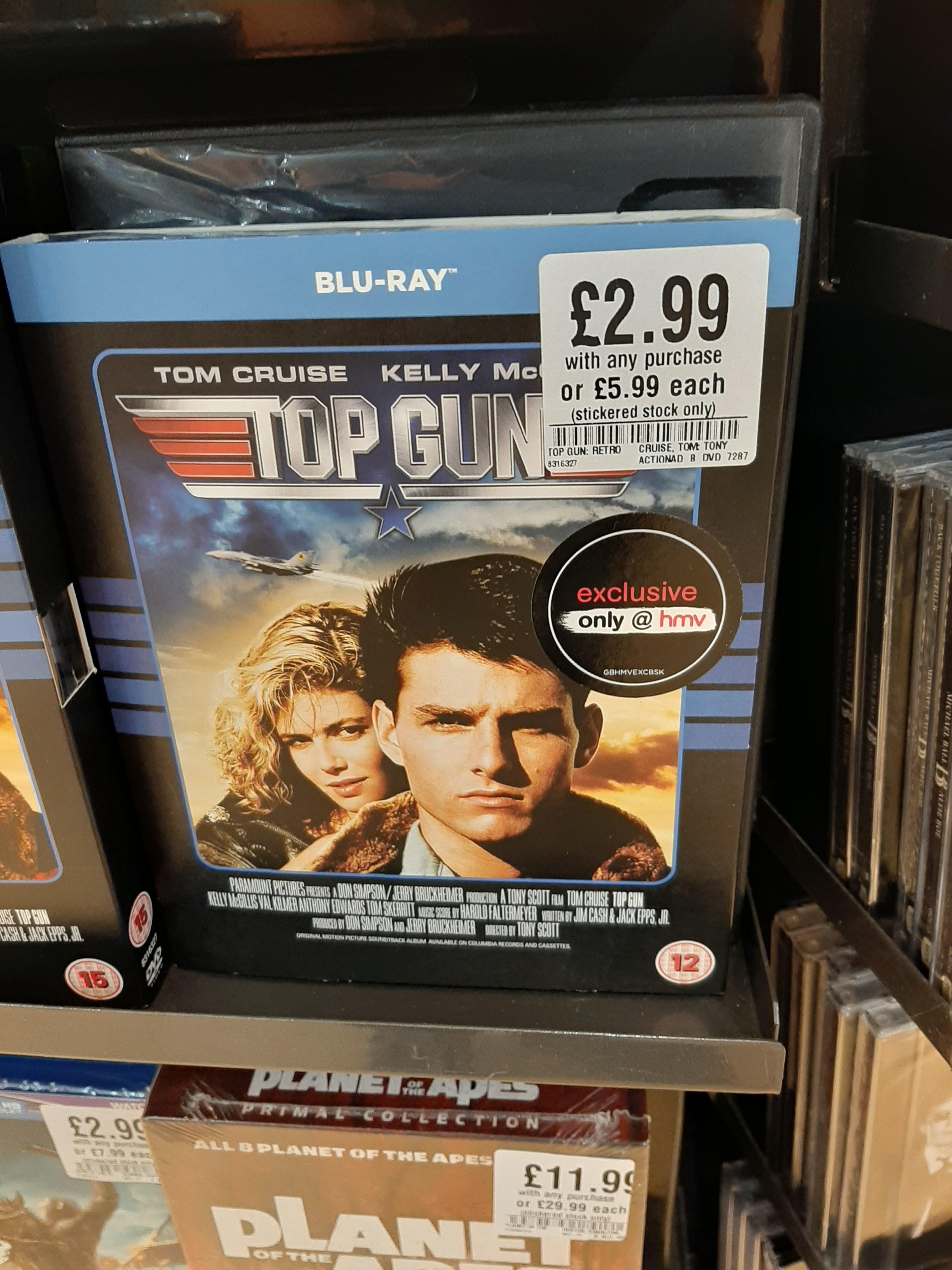 Top Gun Blu-ray £2.99 with any purchase @ HMV (instore) Harrogate