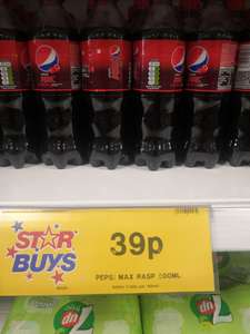 Pepsi max raspberry 500ml 39p instore @ Home Bargains Prenton / Wirral