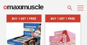 Maximuscle - BOGOF across their snacks and drinks @ Maximuscle