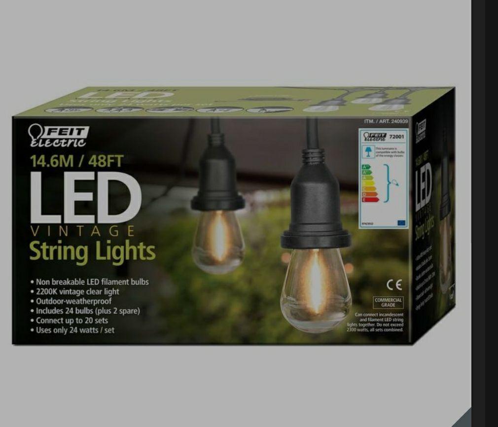 Feit 48ft (14.6m) LED Indoor/Outdoor Weatherproof String Lights Set £41.98 @ Costco warehouse.