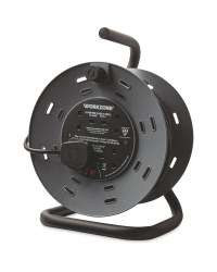 Workzone 25m Extension Cable Reel - 4 Socket/13A - Open drum £17.99 Aldi instore / £2.95 delivery