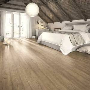 Natural Roanne Oak Laminate Flooring 12mm Thick - 1.49m2 Pack for £11.92 @ Homebase (free click and collect)