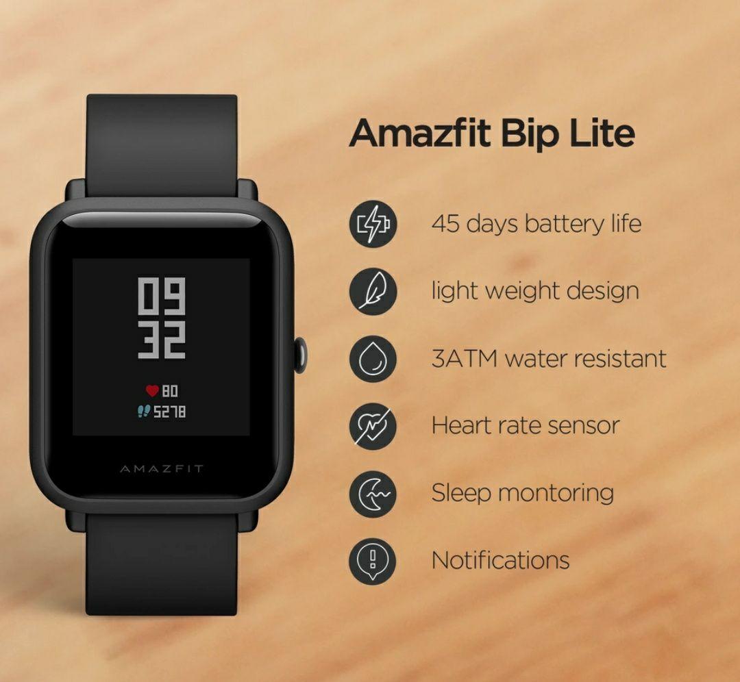 Global Version Amazfit Bip Lite Smart Watch 45-Day Battery Life Smartwatch - £35.82 With Code @ Amazfit Store/Aliexpress