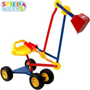 Spielwerk metal ride-on 360° rotatable excavator with flexible shovel and chunky wheels for £31.95 @ DeubaXXL