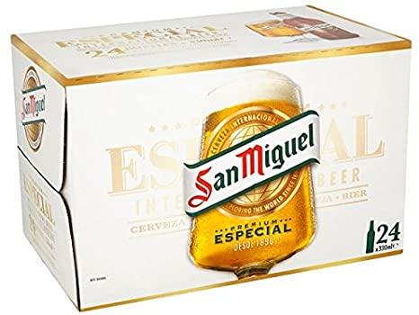 San Miguel 24x330ml 5.4% £20 at Sainsbury's in Sutton
