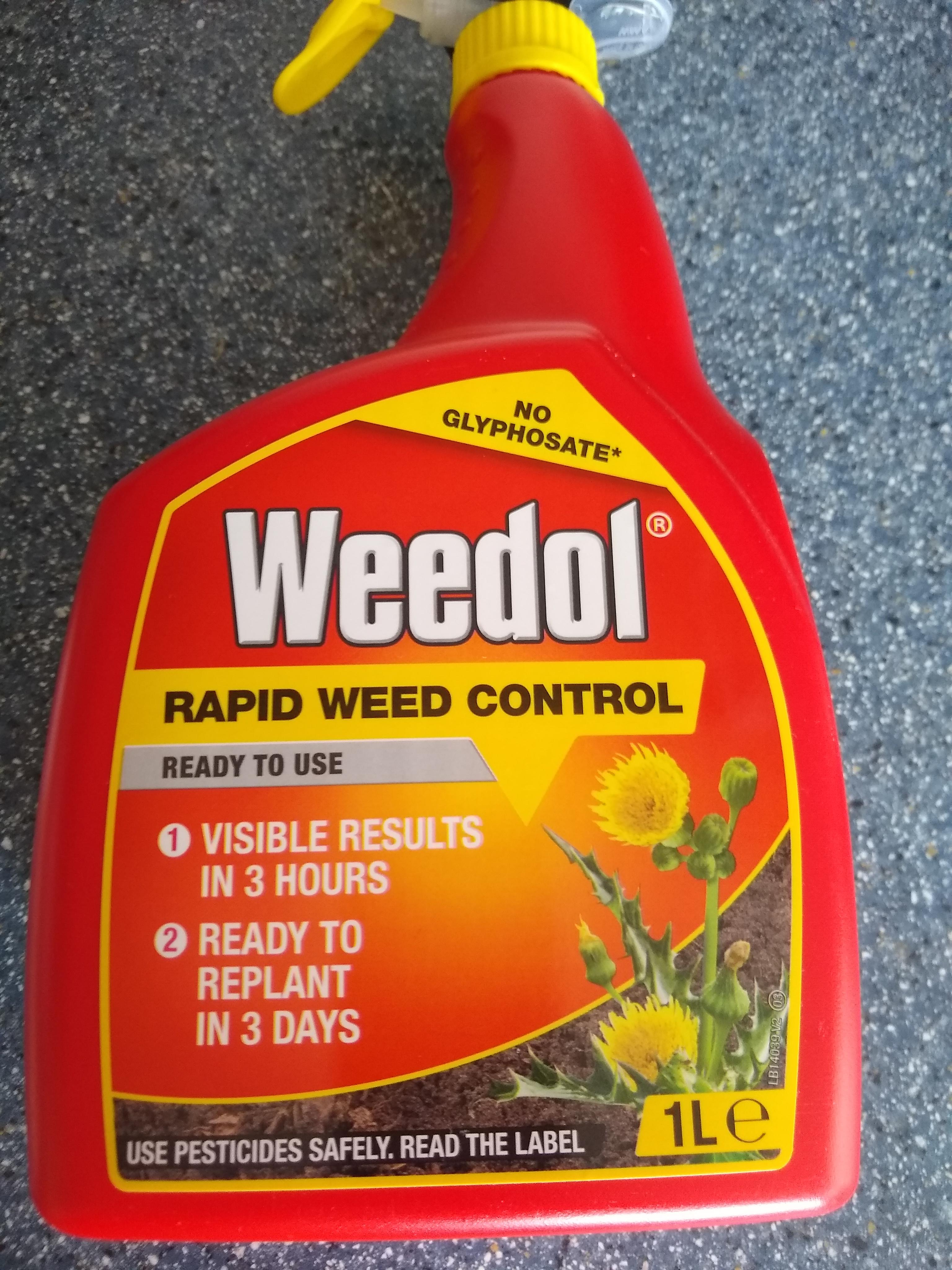 Weedol Rapid Weed killer 1L £1.50 @ Morrisons