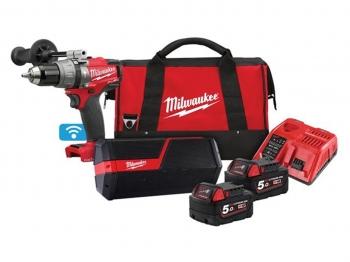 Milwaukee M18ONEPP2I-502B 18V One-Key Percussion Drill & Jobsite Speaker Twin Pack £239.99 @ PowerToolMate