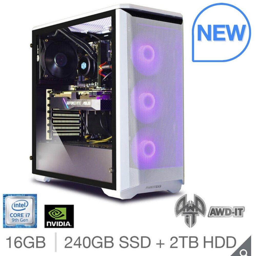 AWD-IT Fury 7, Intel Core i7, 16GB RAM, 240GB SSD + 2TB HDD, NVIDIA RTX 2060 Super, Gaming Desktop PC £1229.89 Costco