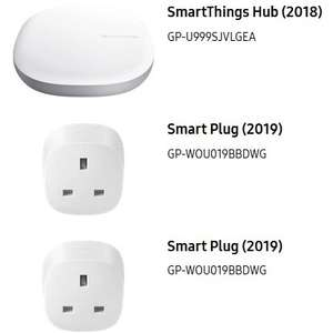 Samsung SmartThings Smart Home Hub & 2 Smart Plugs for £69.50 at Samsung Store