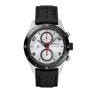 Montblanc Men's TimeWalker Chronograph Automatic Black & Silver Watch 43mm 116100 £1770 @ Burrell's