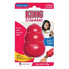 KONG medium size classic red dog chew toy. Durable natural rubber £4.87 + £1.99 del @ Animed direct