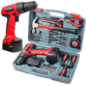 Tool Kit with Hi-Spec DT30320 9.6V 1200mAh cordless drill and 26 piece tool set for £44.99 delivered @ Apollo Fulfilment Ltd / Amazon