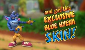 Get a free Blue Hyena Skin if you pre register for Crash Bandicoot On The Run @ Google Play