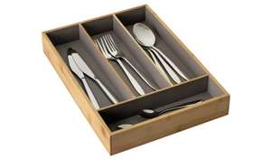 Argos Home Cutlery Tray - Bamboo and Grey £4 @ Argos (Free C&C)