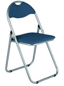 Argos Home Padded Faux Leather Folding Office Chair - Blue - £6.64 with free click and collect @ Argos. Manufacturer's 1 year guarantee.