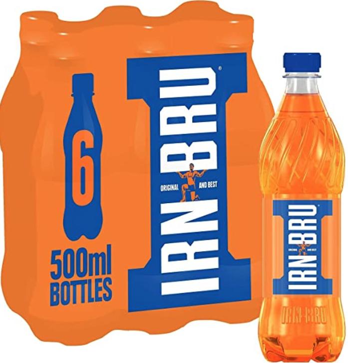 4x6 500ml packs (24 bottles) Irn Bru £10 @ Farmfoods Birmingham