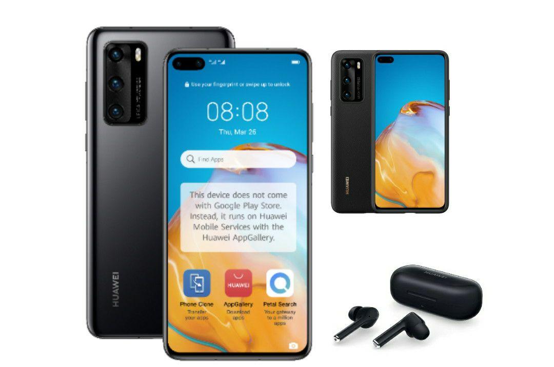 Huawei P40 128GB Smartphone Kirin 990 - 3 Colours + Free FreeBuds 3i & Free Case - £549.99 @ Huawei Store UK