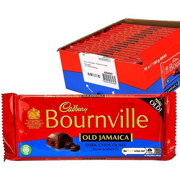 18 x Cadbury Bournville Old Jamaica Dark Chocolate Rum & Raisin 180g bars £20 @ Yankee Bundles