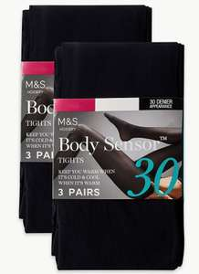 6 Pack 30 Denier Body Sensor™ Opaque Tights £5 @ Marks & Spencer - Free click and collect