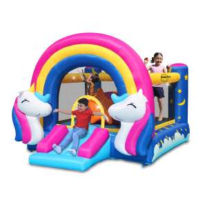 Happy Hop Unicorn Bouncy Castle with Slide and Interactive Hit Me Game (3+ Years) £579.99 at Costco