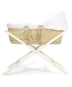 Classic Folding Moses Basket Stand - Ivory £22.35 delivered @ Mamas & Papas Shop