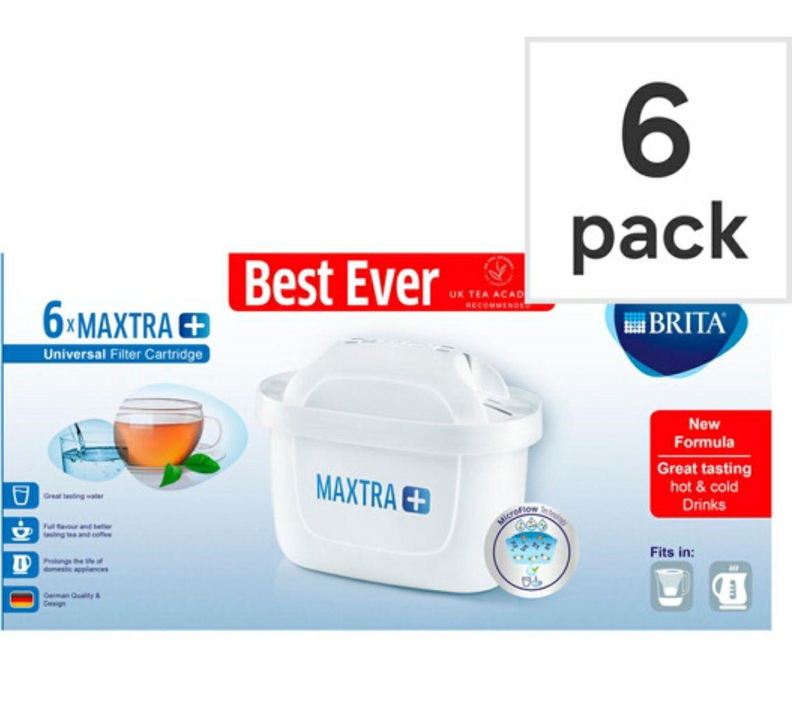 Brita Maxtra+ 6 Pack Cartridges @ Tesco