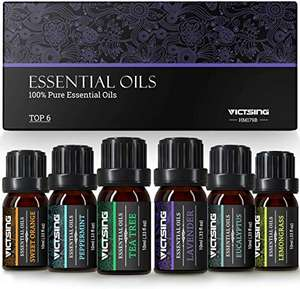 VicTsing Essential Oils Gift Set for Aromatherapy - £6.99 (using £3 off voucher) + (£4.49 non prime) - Sold by HBH Ltd / FBA @ Amazon