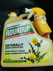 3ltr Roundup weed killer (no glyphosate version) with spray trigger £3.00 @ Morrisons (Newquay)