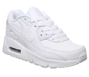 Nike Air Max 90 PS in white/white for kids (various sizes) for £43.50 delivered @ Office
