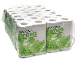 48 Toilet Roll Pack - Maxima Green 200 Sheet Toilet Roll White £13.21 delivered Caboodle Office Supplies